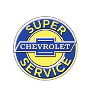"Chevrolet Super Service 12"" Round Metal Sign Pub Game Room Bar Garage"