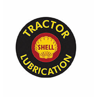 "Shell Tractor Lubrication 12"" Round Metal Sign Pub Game Room Bar Garage"