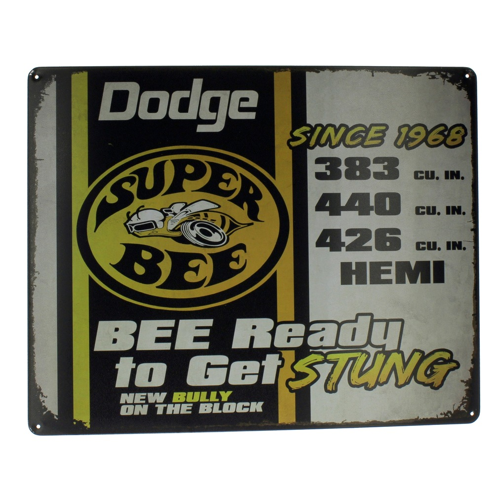 Dodge Super Bee Sting  Muscle Car Hemi Metal Sign Pub Game Room Bar