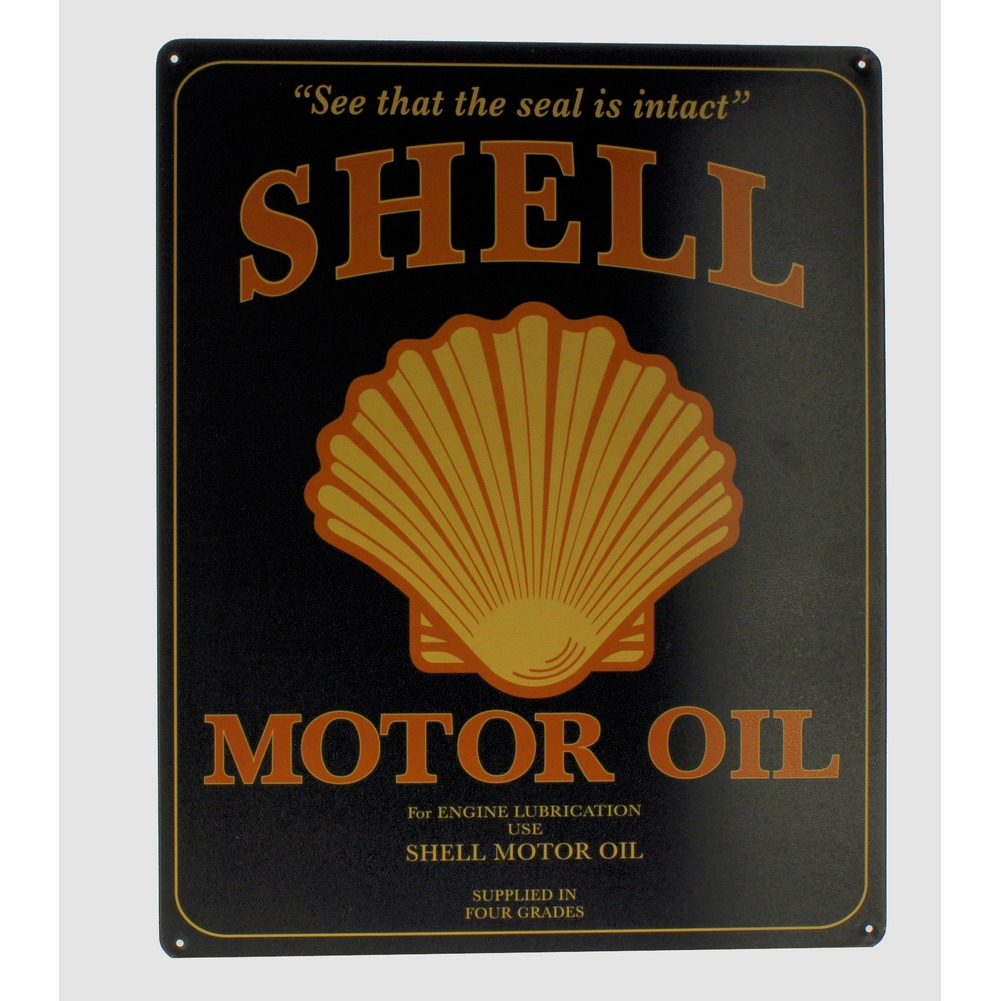 Shell Motor Oil Motorcycle Bike  Metal Sign Pub Game Room Bar