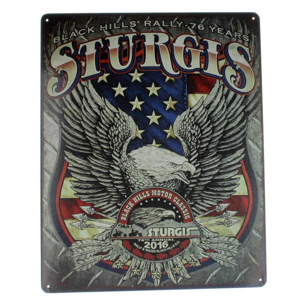 Sturgis Eagle Black Hills Motor Classics Metal Sign Pub Game Room Cave Bar