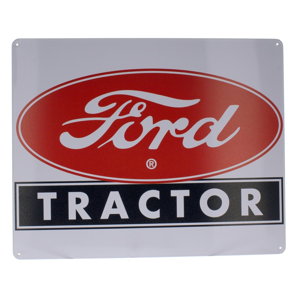 Ford Tractor Oval Emblem Metal Sign Pub Game Room Bar