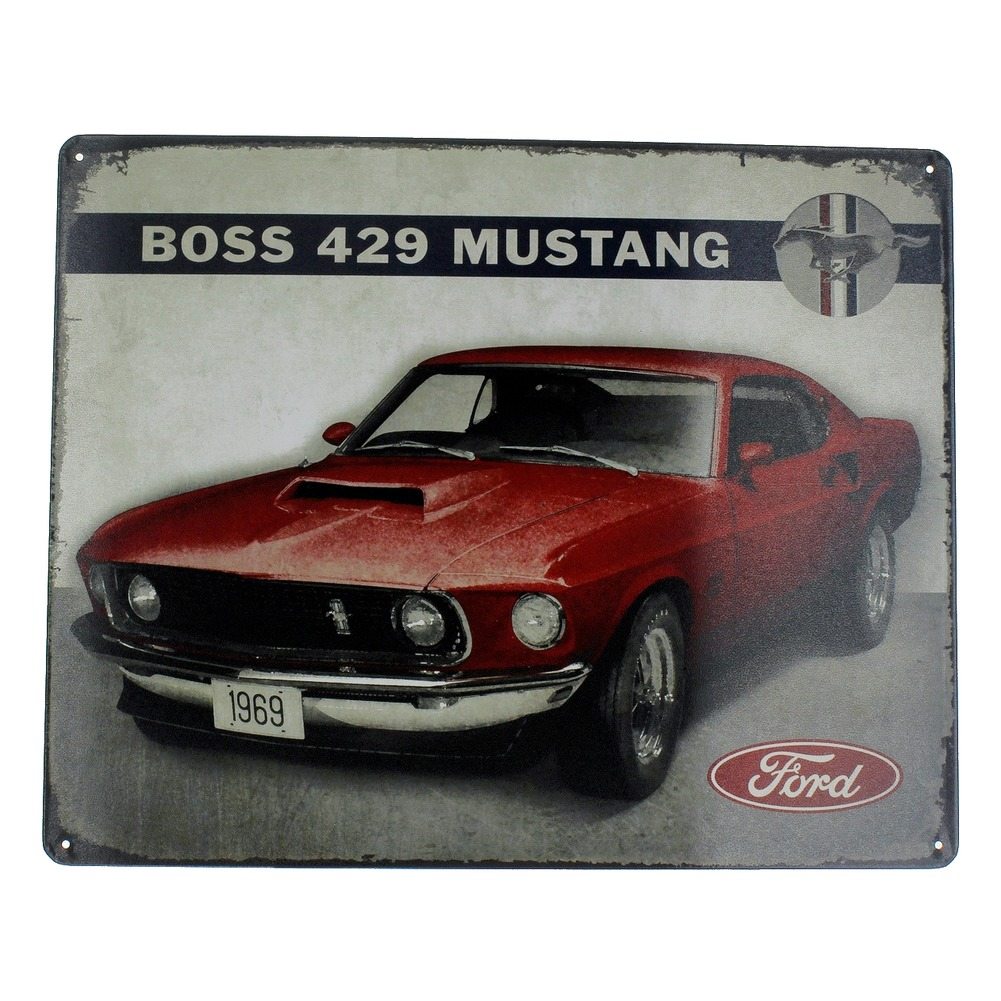 1969 Mustang Mach 1 Boss 429 Metal Sign Pub Game Room Bar