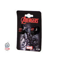 Women'S Stainless Steel Black Ip Avengers Logo Inox Jewelry Huggie Earrings
