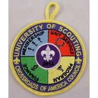 Bsa Boy Scout Uniform Patch University Of Scouting Crossroads Council  #Bsyl