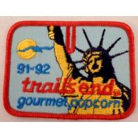 Bsa Boy Scout Uniform Patch Trails End 1991-92 Popcorn Statue Of Liberty #Bsrd