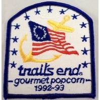 Uniform Patch Boy Scout Bsa Trails End Gourmet Popcorn 1992-93  #Bsbl