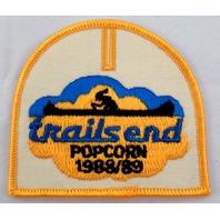 Bsa Boy Scout Uniform Patch Trails End Popcorn 1988-89  #Bsyl