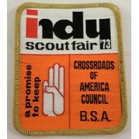 Uniform Patch Boy Scout Bsa Scoutfair 1973 Crossroads Of America  #Bsbr