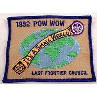Uniform Patch Boy Scout 1992 Pow Wow It'S A Small World Last -Frontier   #Bsbl