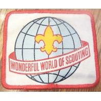 Boy Scouts Uniform Patch Wonderful World Of Scouting Globe Fleur Di Lis