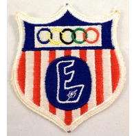 """Uniform Patch Boy Scout Bsa Fall Olympic Shield Sheild Badge """"E"""" Flag #Bswh"""