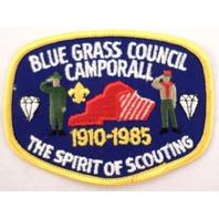 Bsa Boy Scout Uniform Patch Blue Grass Council Camporall 1910-85 #Bsyl