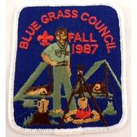 Uniform Patch Boy Scout Bsa Fall 1987 Blue Grass Council  #Bswh