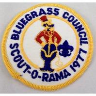Bsa Boy Scout Uniform Patch Blue Grass Council Scout-O-Rama 1977 Circus  #Bsyl