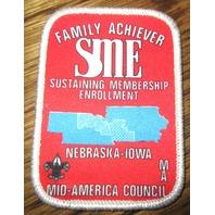Vintage Boy Scout Patch Scout Family Achiever Sme Sustaining Membership Enrollmt