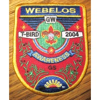 Vintage Boy Scout Patch Scout Family Webelos T-Bird 2004 Awareness G5