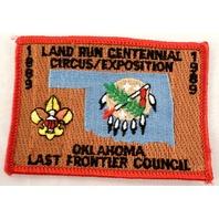 Bsa Boy Scout Uniform Patch Land Run Centennial Ok Last Frontier 1989  #Bsrd