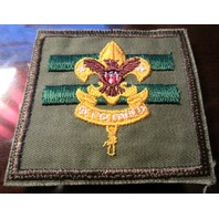 Bsa Boy Scout Uniform Patch Be Prepared Khaki Square 2 Bars