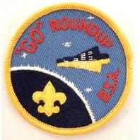 """Bsa Boy Scout Uniform Patch """"Go"""" Roundup Bsa Space Pod Ship   #Bsyl"""