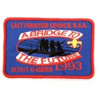 Bsa Boy Scout Uniform Patch Last Frontier Council A Bridge To The Future #Bsrd