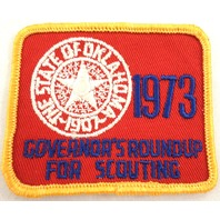 Uniform Patch Boy Scout Bsa State Of Ok 1973 Govonor'S Roundup  #Bsyl