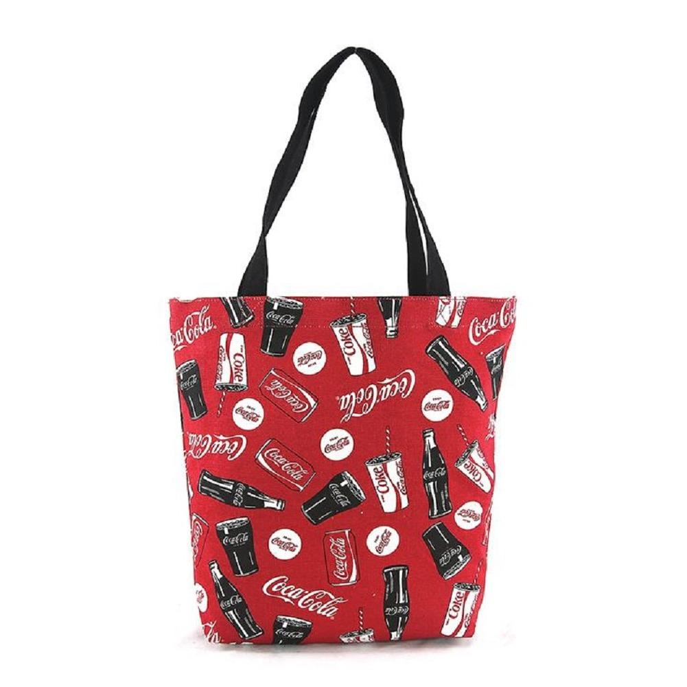 Coca-Cola Coke Licensed Canvas Tote Purse Handbag Bag