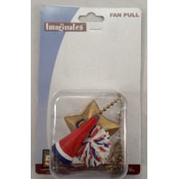 Cheer Cheerleading Pom-Pom Megaphone Ceiling Fan Light Pull Chain Room Decor