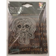 Imaginisce Spooky Town Voodoo Doll Skeleton Clear Cling Rubber Stamp