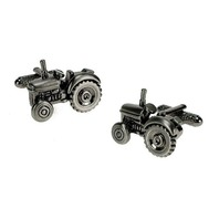 Onyx Art Men'S Cuff-Links Tractor Cuffs Farming Farmer #Ck266