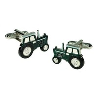 Onyx Art Men'S Cuff-Links Farming Tractor In Green Farm Vehicle #Ck647