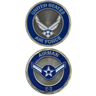 United States Airman Airforce E-2 Military Challenge Coin