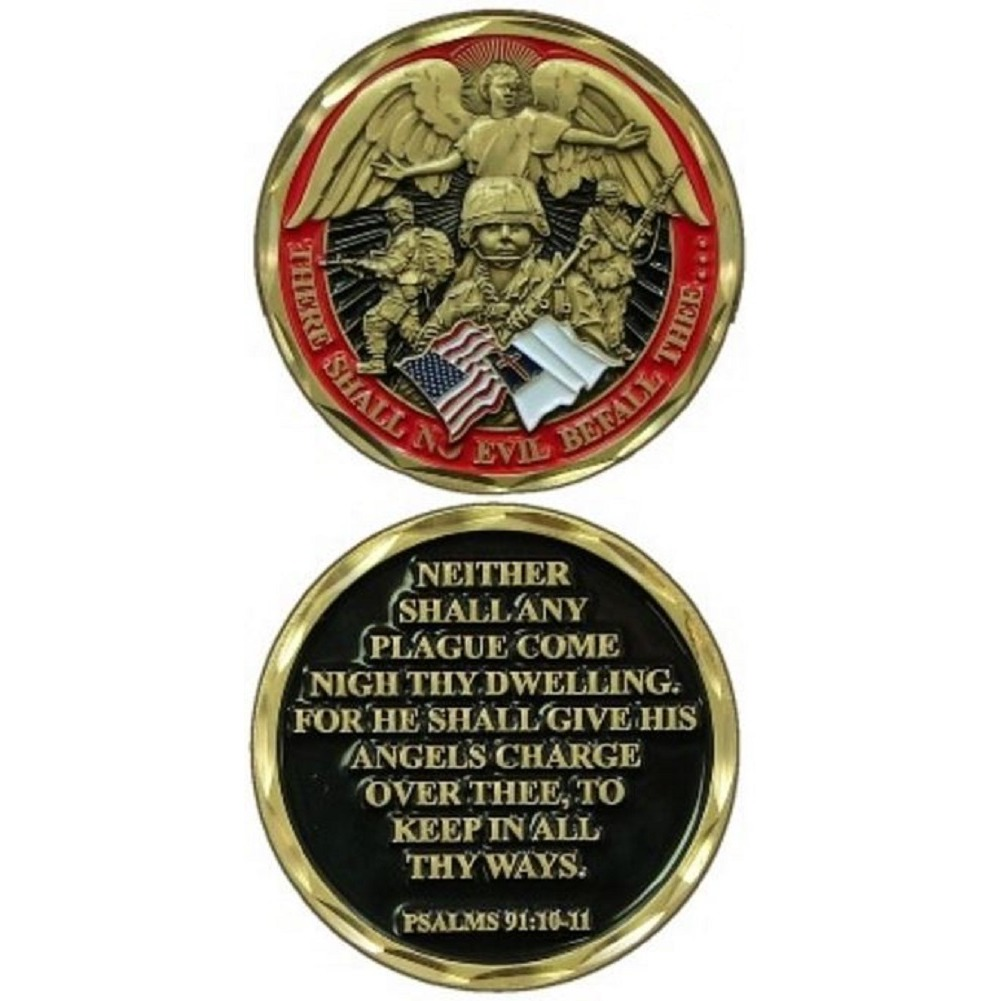 United States Military Challenge Coin Soldier's Psalm Protection Prayer
