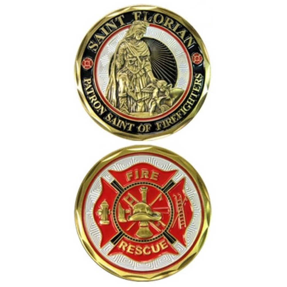 United States Military Challenge Coin Saint Florian Patron St of Firefighters