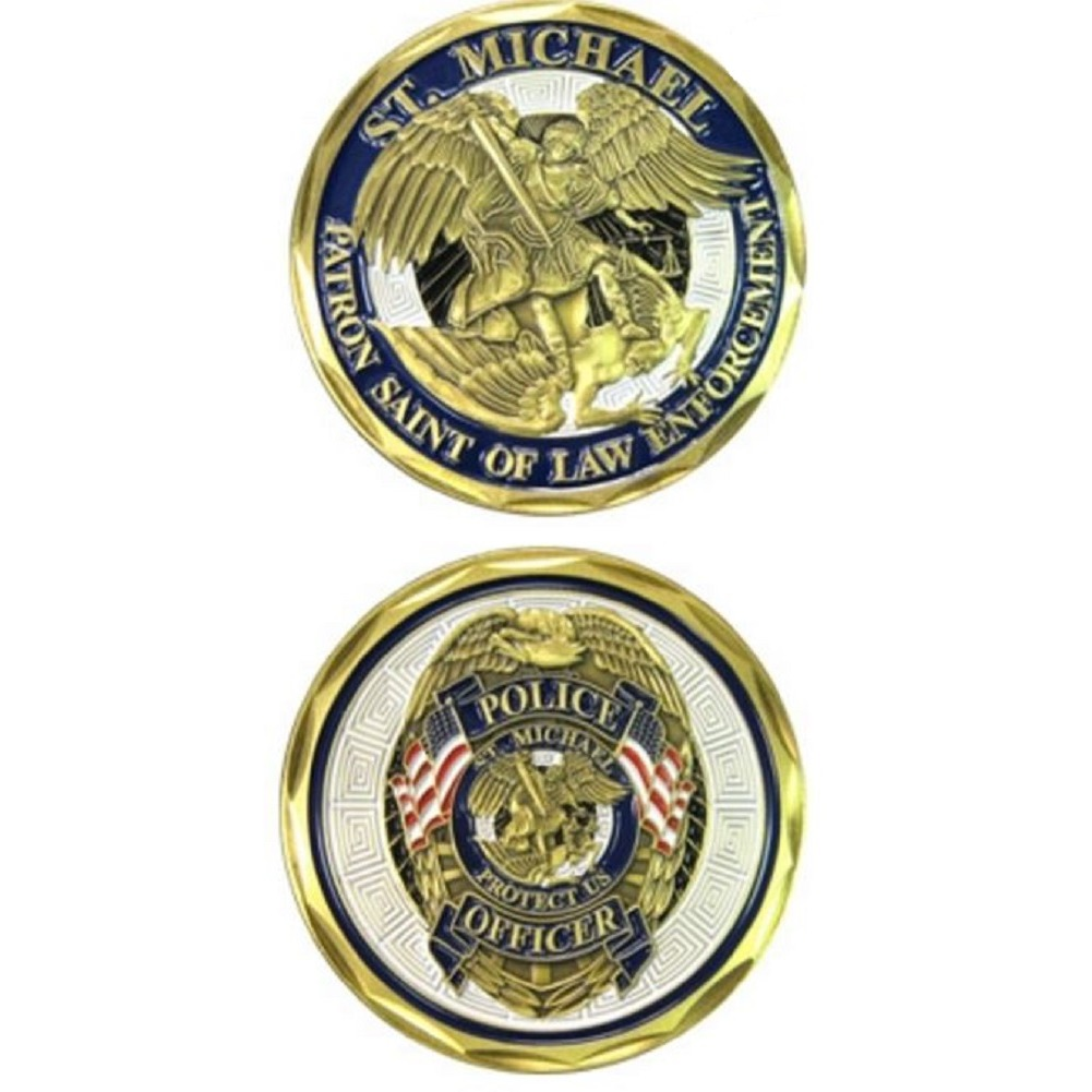 United States Military Challenge Coin St Michael Patron Saint of Law Enforcement