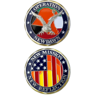 United States New Mission New Reflection New Dawn Kuwait Military Challenge Coin