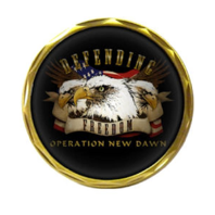 United States Defending Operation New Dawn Military Challenge Coin