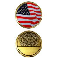 United States Freedom Flag with Army Symbol Military Challenge Coin