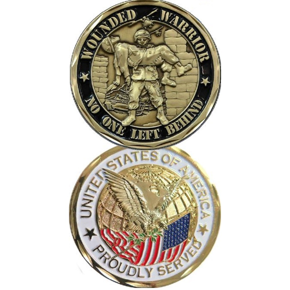 United States Military Challenge Coin Wounded Warrior No One Left Behind