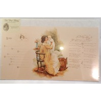 Old Print Factory Baby'S Birth Record Certificate Poem For Framing #Crt002