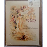 Old Print Factory Baby'S Baptism Record Certificate Scrapbooking Framing #Crt007