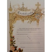 Turn Of The Century Wedding Certificate Marriage Old Print Factory #Crt013