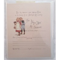 Old Print Factory First Day Of School Record Scrapbook, Print Or Framing #Crt015