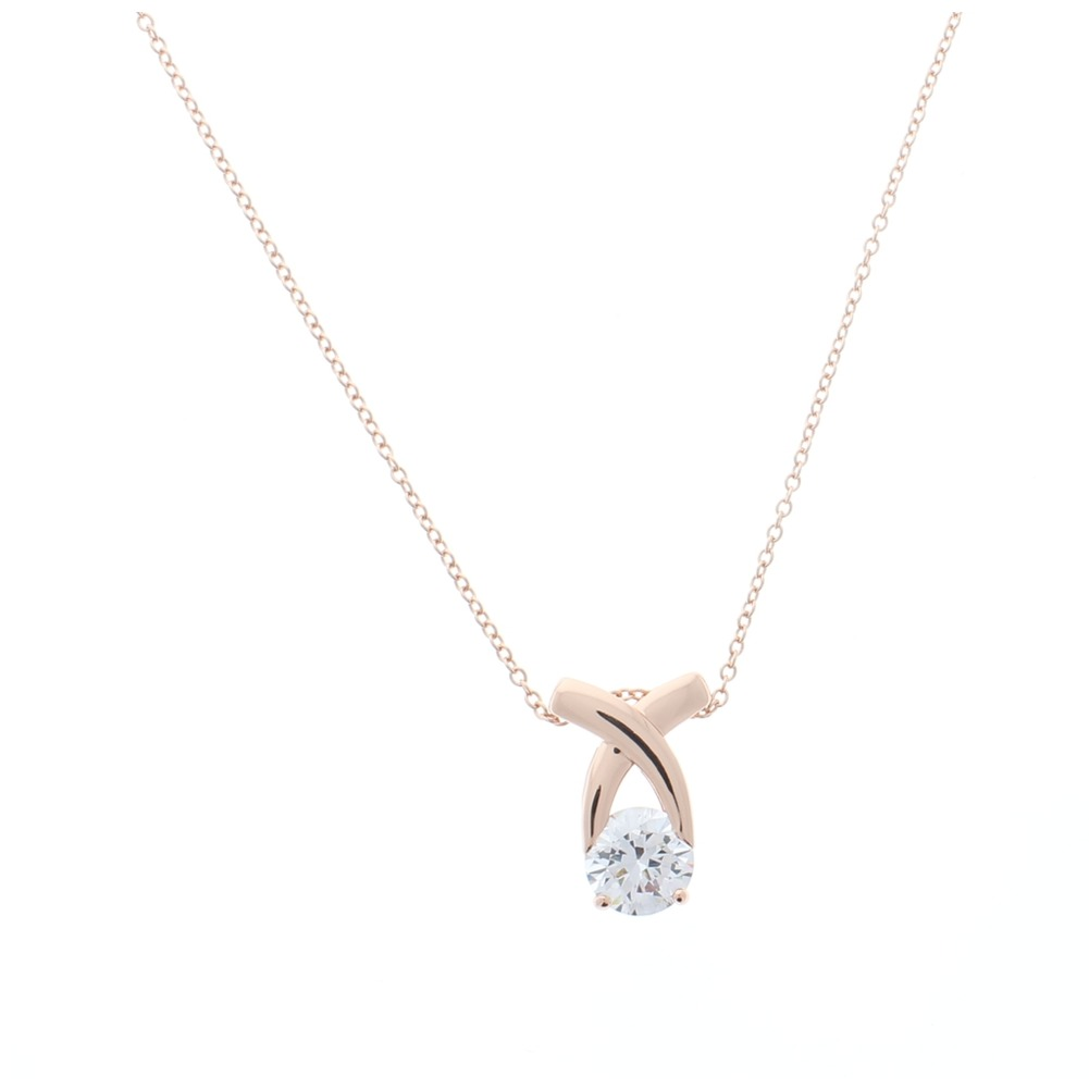 Women's Rose Gold Bling Charm Pendant Necklace Australian Crystals