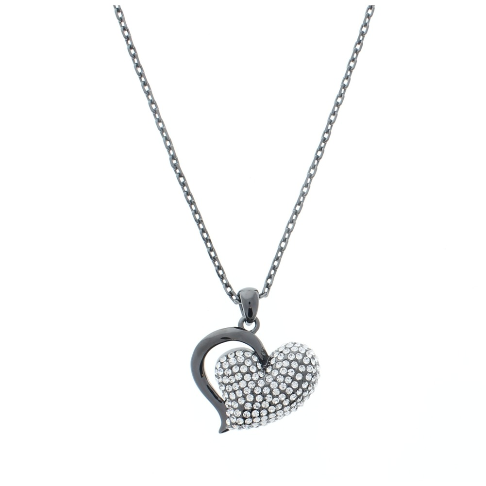 Women's Whimsical Heart Charm Necklace Australian Crystals