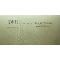1950's Ford Motor Co. Kansas City Aircraft Plant paper letterhead & Watermark