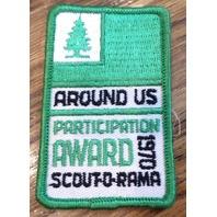 Bsa Boy Scout Uniform Scouting Around Us Participation Award 1970 Scout-O-Rama