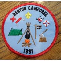 Bsa Boy Scout Uniform Patch Bsa 1991 Beneton Camporee