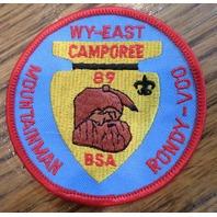 Bsa Boy Scout Uniform Patch Bsa Wy-East Mountainman Rondy-Voo 1989 Camporee