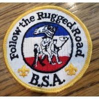 Bsa Boy Scout Uniform Patch Bsa Follow The Rugged Road Bsa